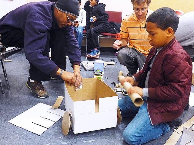 Josiah Mentoring Recyclebot Workshop