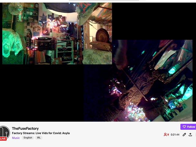 Screenshots of Asyla's live-stream